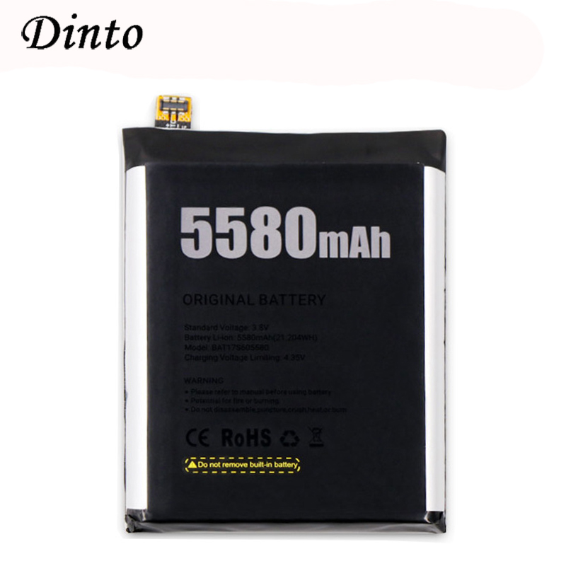 Dinto NEW 5580mAh DOOGEE S60 Battery BAT17M15580 BAT17S605580 Replacement Smart Phone Backup Batteries For DOOGEE S60 Phone