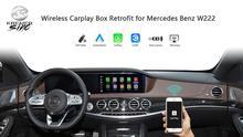 Satış sonrası kablosuz Carplay akıllı kutu Mercedes Benz S sınıfı için W222 NTG4.5 NTG5.0 Mercedes Benz Carplay Android güçlendirme