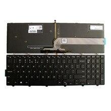 US คีย์บอร์ดสำหรับ Dell Inspiron 15 3000 5000 3541 3542 3543 5542 5545 5547 17 5000 แล็ปท็อปแป้นพิมพ์ภาษาอังกฤษ backlit