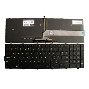 Image 1 - US keyboard For Dell Inspiron 15 3000 5000 3541 3542 3543 5542 5545 5547 17 5000 Laptop English Keyboard With Backlit