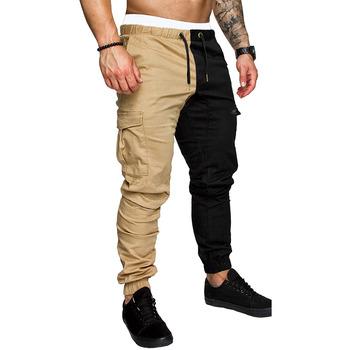 Długie spodnie męskie biegaczy marszczone w pasie spodnie dresowe Homme spodnie dresowe Hombre hip-hopowe spodnie dresowe Streetwear tanie i dobre opinie Cztery pory roku Spodnie cargo CN (pochodzenie) POLIESTER COTTON Daily Na co dzień Plisowana NONE REGULAR Pełna długość