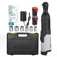 Electric Ratchet Wrench-Kit Cordless Professional 18V 80N.M 240RPM Portable 3/8inch
