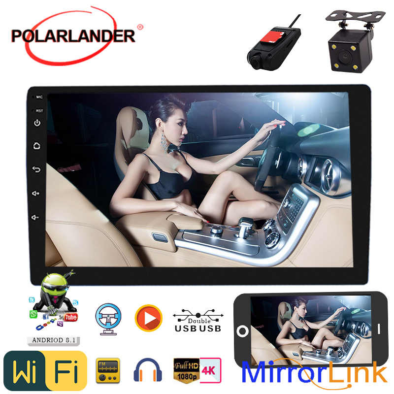 2 Din 9'Universal Android 8,1 amplificador Bluetooth Quad Core Radio de coche GPS navegación estéreo Mirrorlink Carplay Android Auto