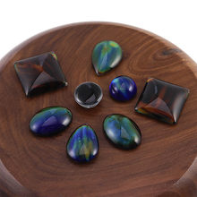 5 uds. Mágicos para cabujón de accesorios, suministros de ajuste, cambio de Color por temperatura, Cuadrado redondo, forma ovalada, fabricación de joyería DIY