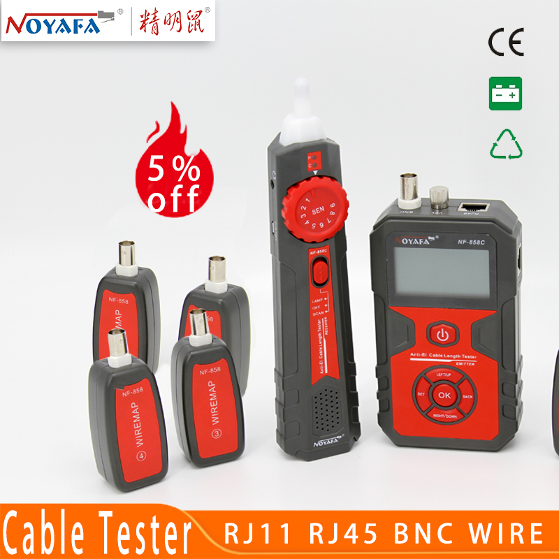 Cable Line Locator RJ11 RJ45 BNC Portable Wire Tracker Cable Tester Finder For Network Cable Testing Noyafa NF 858