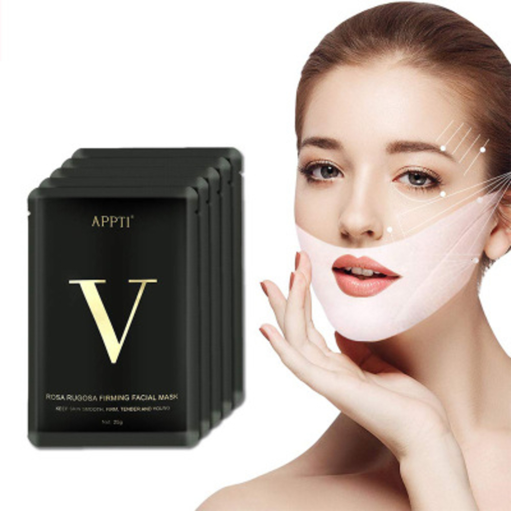 V Shape Mask Massage Face Firming Mask Chin Facial  Lifting Mask Wrinkle Shaper V Line Mask Slimming Beauty Skin Care Tool Lady
