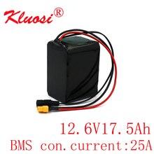 KLUOSI 3S5P 12V 17.5Ah 10.8V 18Ah 12.6V Lithium Battery Pack 250Watt High Power for Motor Scooter Light Etc with 25A BMS XT60
