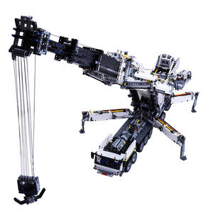 Model-Kit Building-Block Crane Particles-Assembly Moc Small Motor-Dynamic-Version