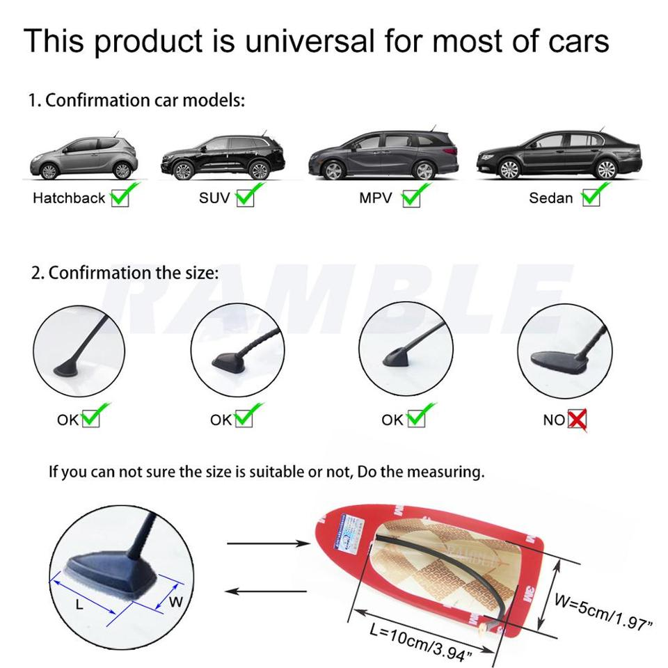 Shark Fin Antenna for Nissan Xtrail Radio Aerials Cover X-Trail T31 T30 T32 Antennas Nissan Accesories 2012 2013 2014 2015 2016 2017 2018 2019 2020 Ramble Standard Style, Pearl White
