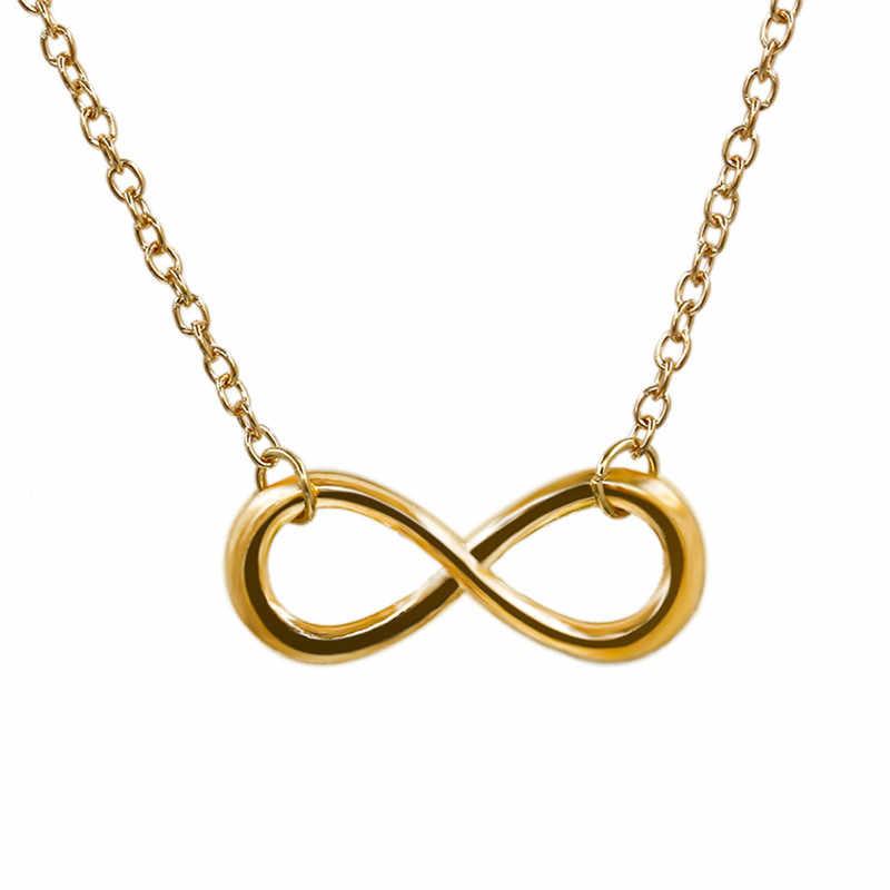 גרסה קוריאנית של פופולרי תכשיטי 8 מילת תליון קצר עצם הבריח שרשרת שרשרת פשוט זהב צבע שרשרת אופנה אבזרים