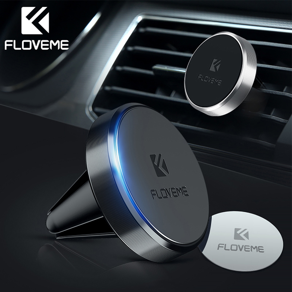 FLOVEME Magnetic Car Phone Holder For Phone In Car Magnet Air Vent Universal Mobile Phone Mount Stand Support Holder For Xiaomi