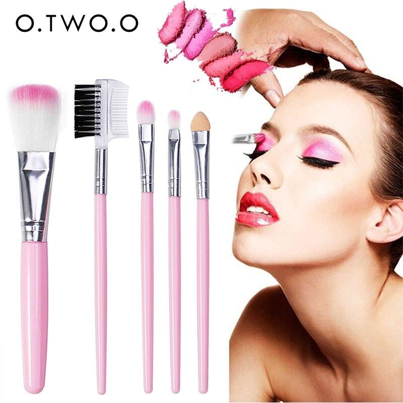Fashion Beauty Tool Concealer Blending Brushes Cosmetic Powder Foundation 5pcs/Set Women Accessories Eyeshadow Brush Set