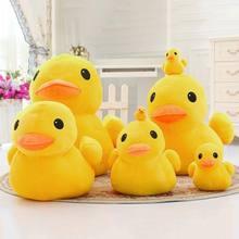 Oreiller en peluche canard jaune doux, 1 pièce, décoration de canapé, jouet cadeau d'anniversaire pour enfants