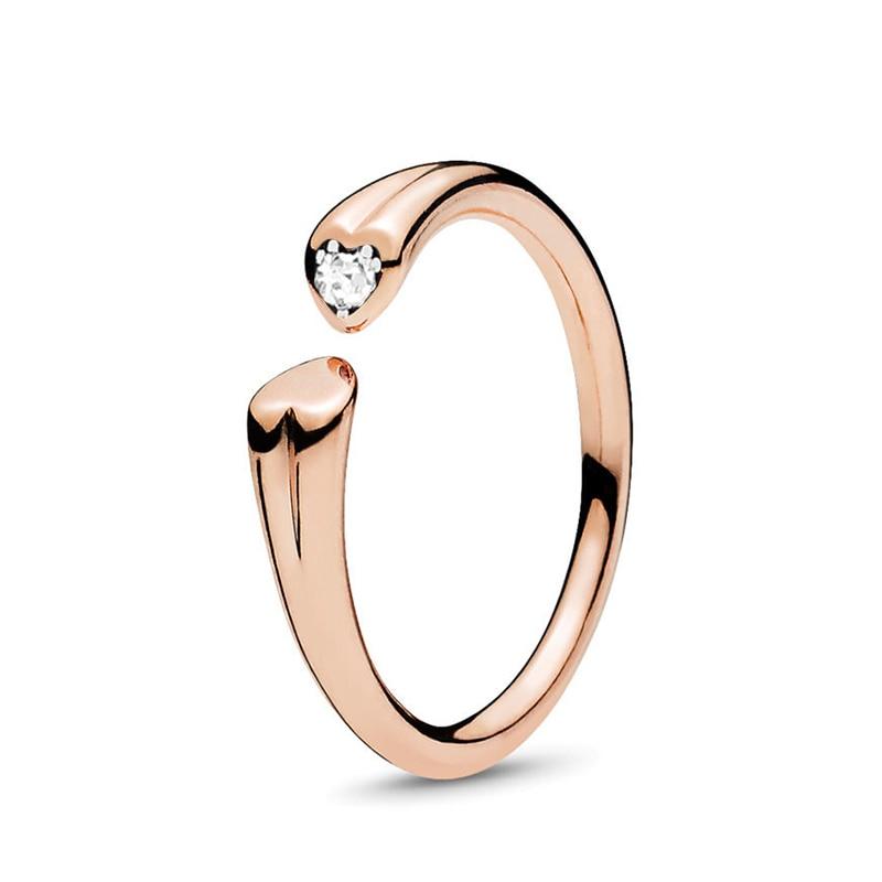 Кольцо на палец в форме сердечко серебряного цвета для женщин, европейская оригинальная Корона, изящные кольца на палец, свадебные украшения, 50 стилей, Прямая поставка - Цвет основного камня: Rings 044