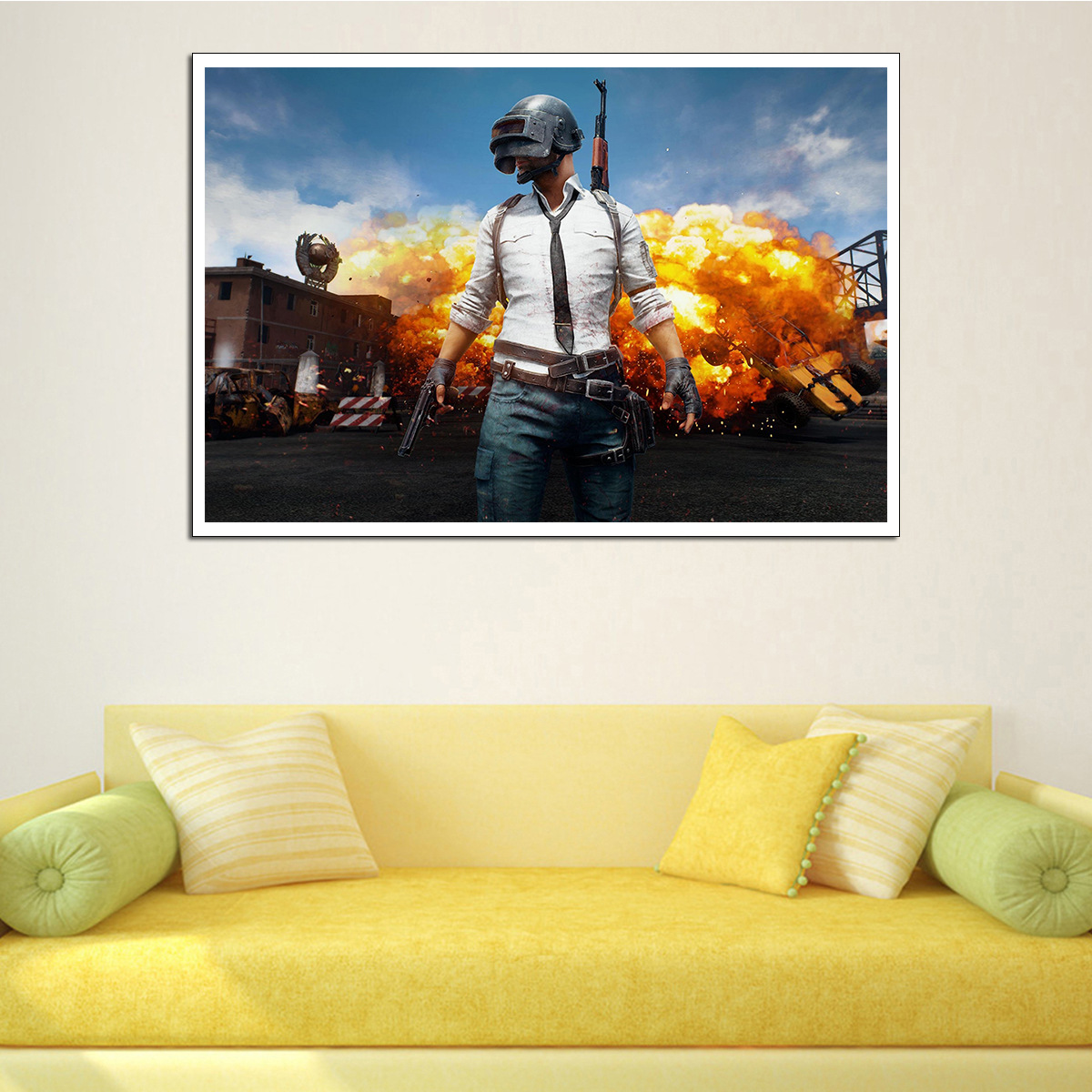 PUBG Poster Canvas Painting AliExpress Modern Hanging Art Winner Chicken Game Home Wall Painting Wall Pictures for Living Room image