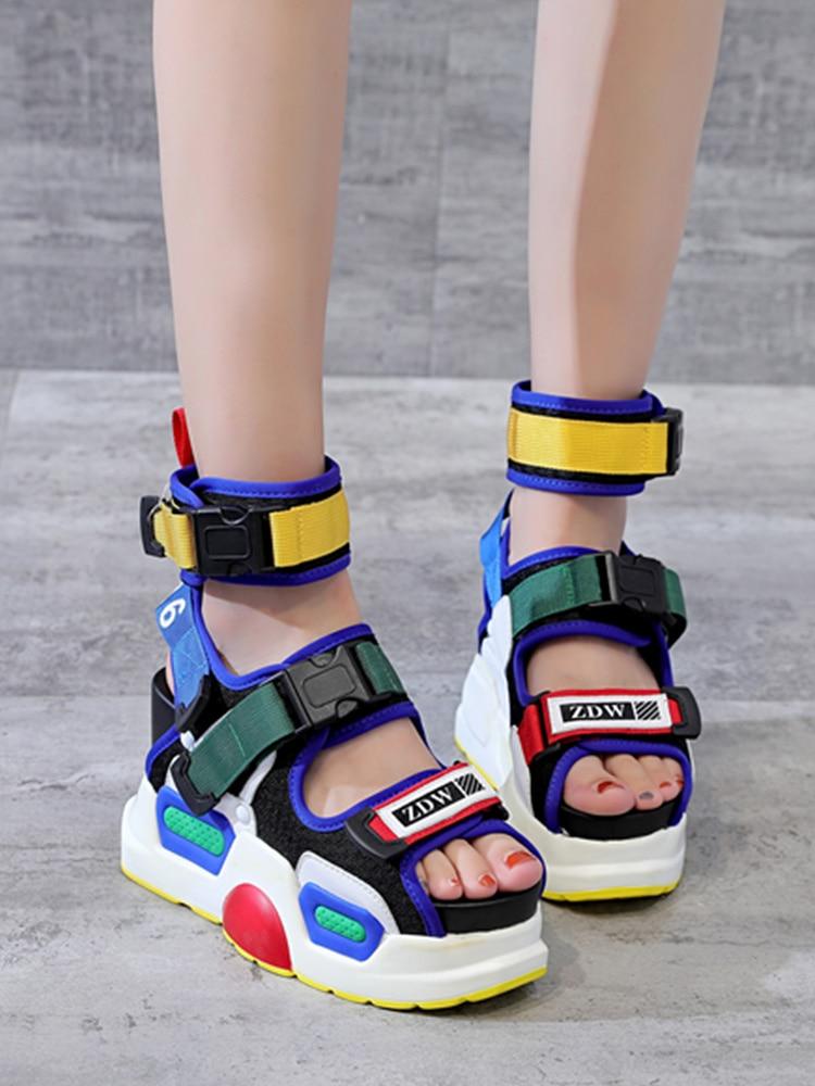 H81aca9b4c5474d63841a28ce0f0edc69R SWONCO Women's Sandals 2019 Summer High Heels Sandals For Women Chunky Sandal Womens Wedge Platform Shoes Casual Summer Sandal