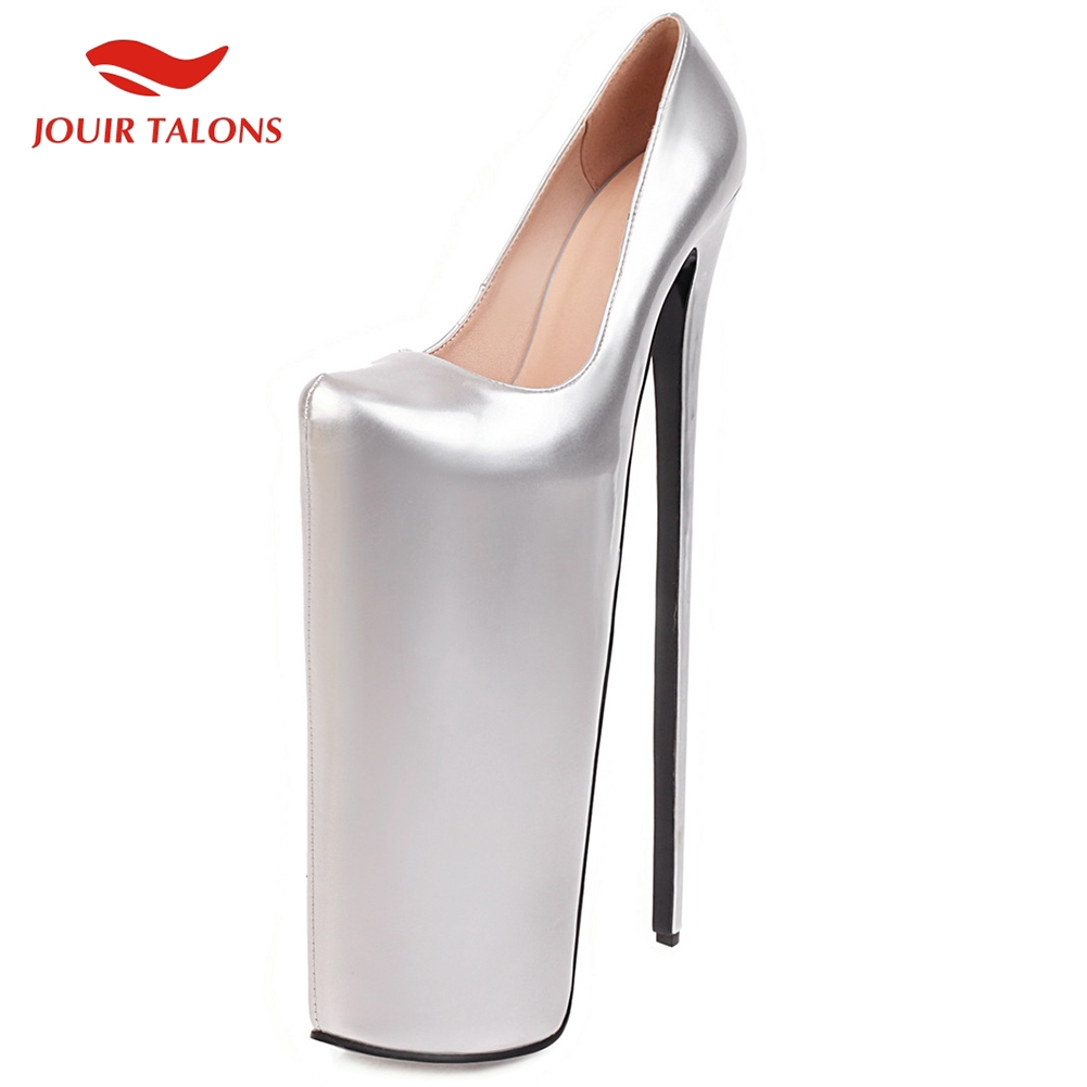Brand New On Sale Top Big Size 50 Fetish <font><b>Heels</b></font> Extreme <font><b>30cm</b></font> High 20cm Platform Party Nightclub SM Woman Shoes Women Pumps image