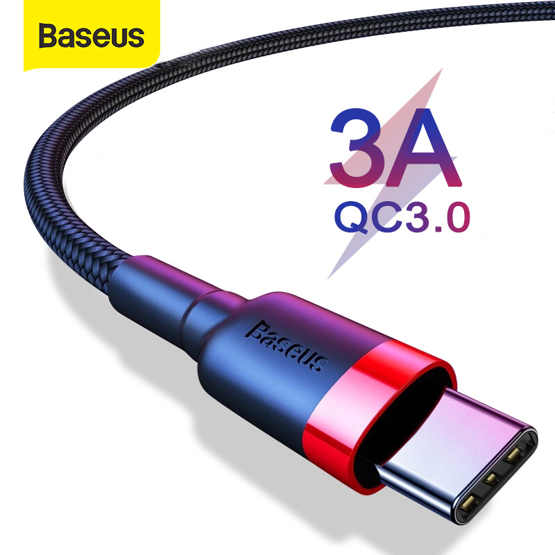 Baseus USB Type C Cable for Samsung S10 S9 Quick Charge 3.0 USB C Cable for Huawei P30 Cable Type C Fast Charging USB TypeC Wire|Mobile Phone Cables|   - AliExpress