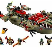 Командный корабль краггера 70006, строительные блоки, модель, игрушки для детей, BELA 10061, совместимый с LegoINGly Chimaed, кубики, Набор фигурок