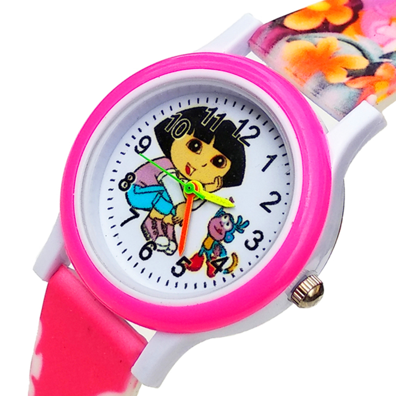 Cartoon Dora Watch Children Quartz Clock Women Watches For Kid Girls Boys Gift Children Watch Electronic Waterproof Kids Watches