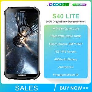 """Image 2 - Doogee S40 Lite sağlam cep telefonu 2GB 16GB dört çekirdekli 5.5 """"ekran 4650mAh 8.0MP yüz kimliği parmak izi kimlik Smartphone"""