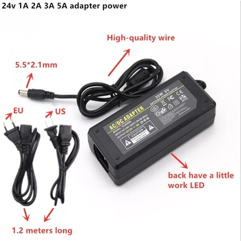 AC DC Adapter DC 15v 48v 24v 1A 2A 3A 5A 5.5*2.1 AC110-220V Converter Charger Power Supply EU Plug US plug Black Wholesale image