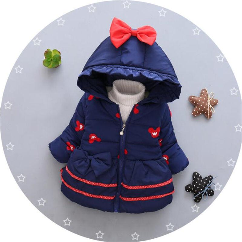 BibiCola New Baby Girl Winter Coat Children Outerwear, Baby Girls Cartoon Cat  Winter Coat, Baby Jackets, Girl's Clothing