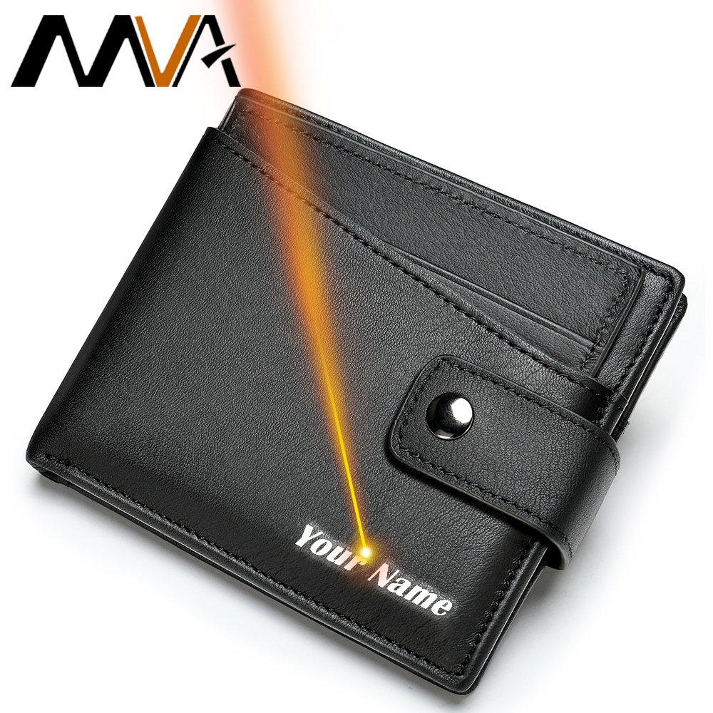 MVA Men Purse Leather Wallet Men With Coin Pocket Wallet For Man Cards Genuine Leather Wallets Male Porte Feuile Hommes     8935