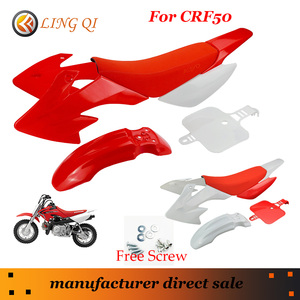 Fashion Red CRF50 plastic fairing body kits+ awesome red Frosted texture Soft Foam Seat Cushion fix to CRF 50cc 70cc 90cc 110cc