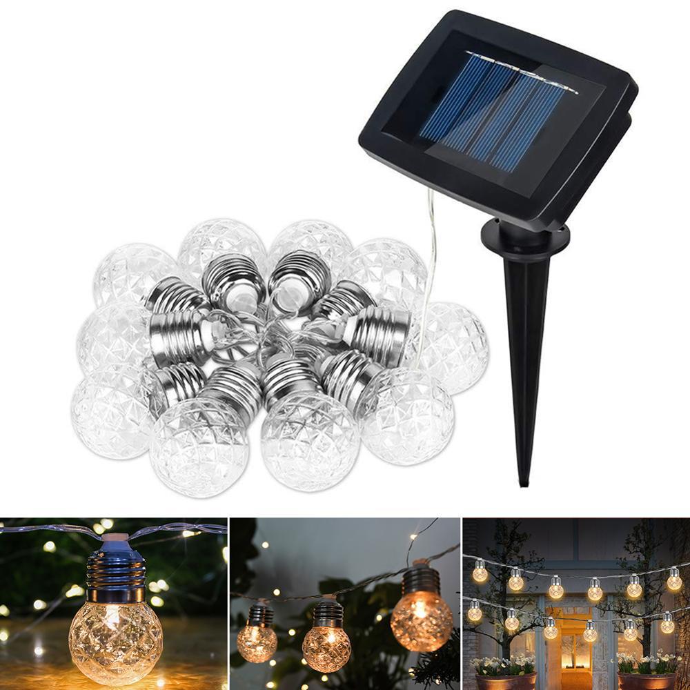 New 10/20 LEDS Pineapple 3.8M/6M Solar Lamp Power LED String Fairy Lights Solar Light String Garden Christmas Decor For Outdoor