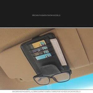 Image 4 - IKSNAIL Car Sun Visor Bill Pen Business Card Holder CD DVD Organizer Storage Box Sunglasses Clip Stowing Tidying Car Accessories