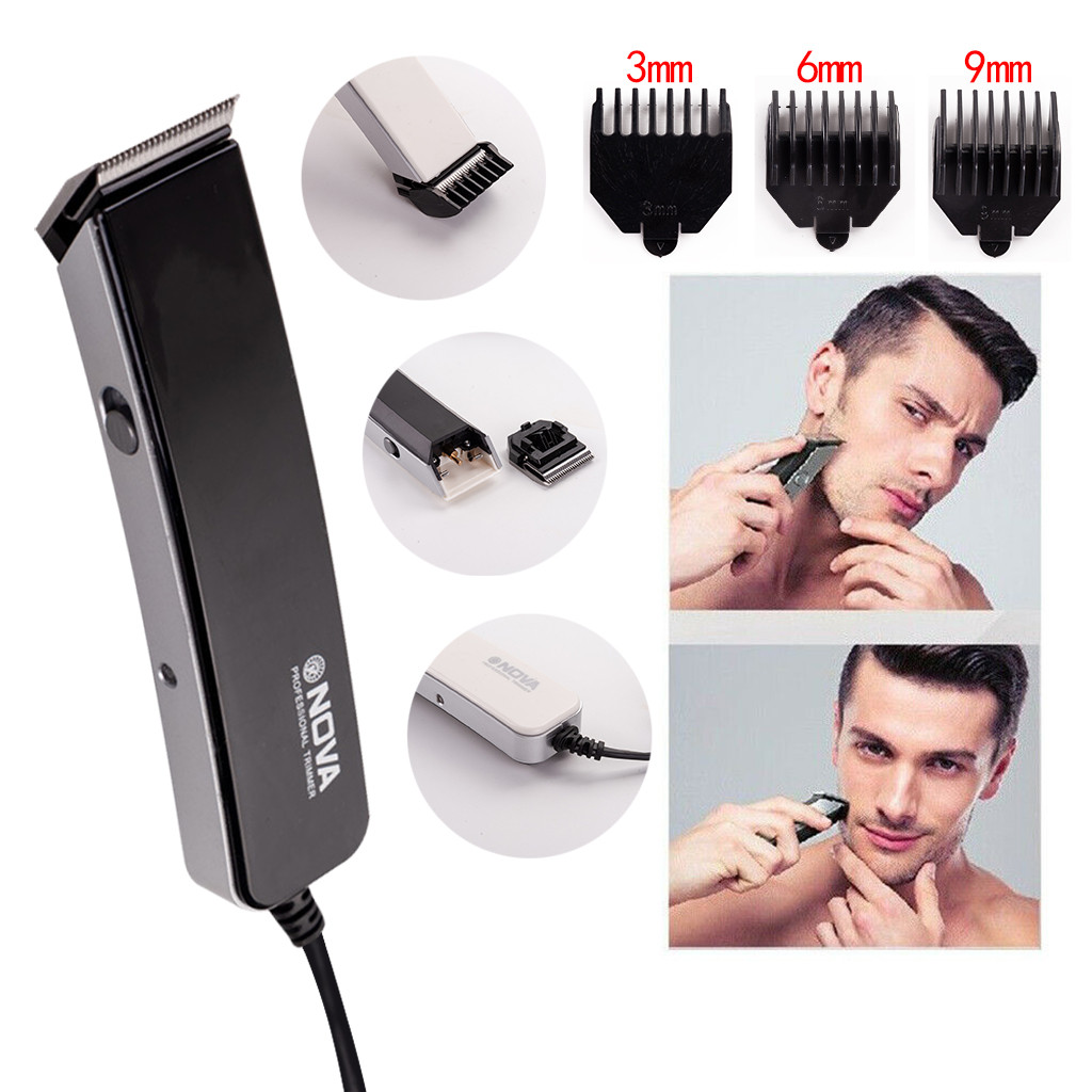 Professional Hair Trimmer Rechargeable Plug-In Electric Push-Clipper Hair Clipper Men's Cordless Haircut Hairdresser Shaver 1010