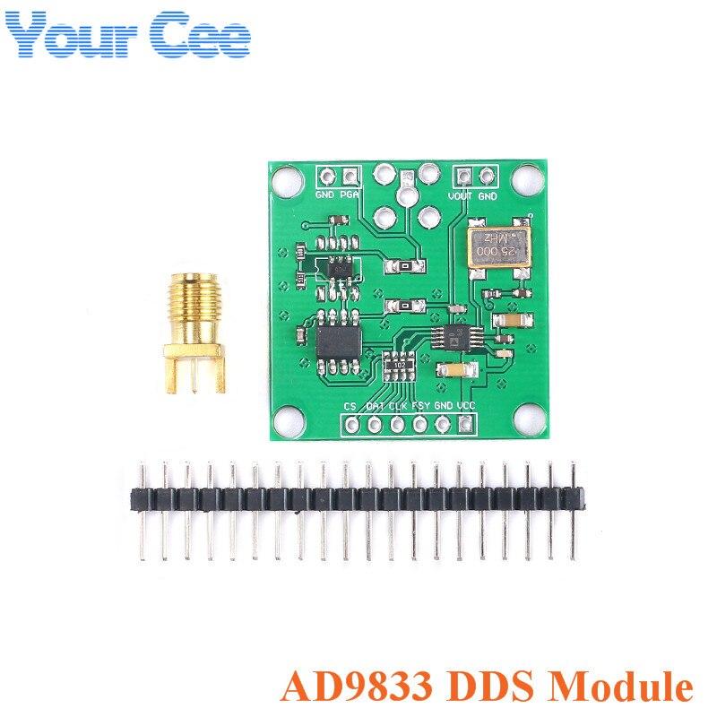 AD9833 DDS модуль генератора сигналов DC 0-12,5 МГц SPI квадратная треугольная Синусоидальная волна выход цифровой программируемый частота и фаза