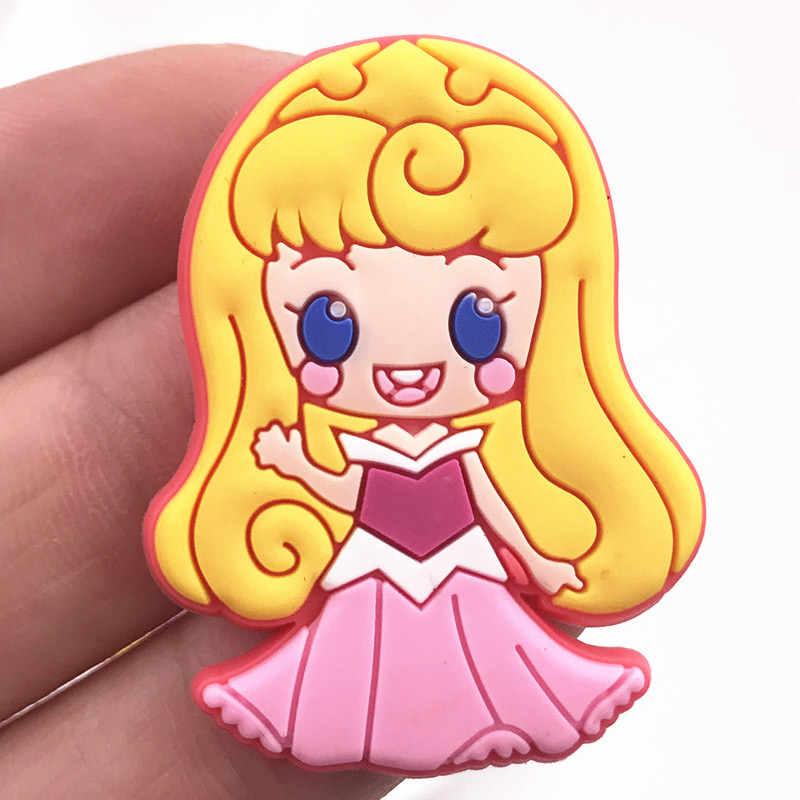 8 pc Della Principessa Elsa Ariel biancaneve Anna Mermaid PVC posteriore Piana accessori Fai Da Te di fascini artigianato Pendenti con gemme e perle piccoli ornamenti Ragazze regalo