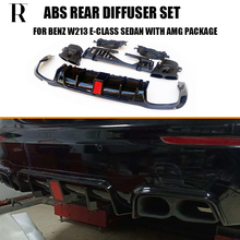 купить W213 B Style PP Rear Diffuser with Exhaust Tips for Benz W213 E200 E260 E300 E320 E43 E53 E63 4 Door Sedan With Amg Package дешево