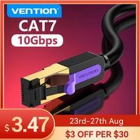 Cable Ethernet Vention Cat 7 Cable Lan STP RJ45 Cable de red para Cable de conexión Compatible para Router Cable de red de ordenador portátil