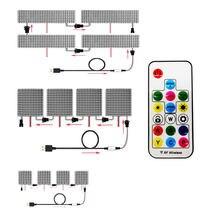 Module Pixel Led WS2812b 8x8 8x32 16x16, 17 touches, contrôleur USB, Kit de petit écran, perles de lampe adressables individuellement