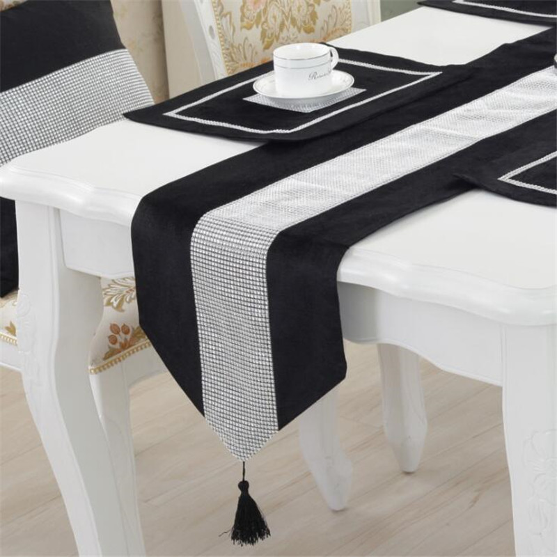 Table Runners With Tassels Table Top Decoration Home For Dining Room Wedding Party Table Decoration