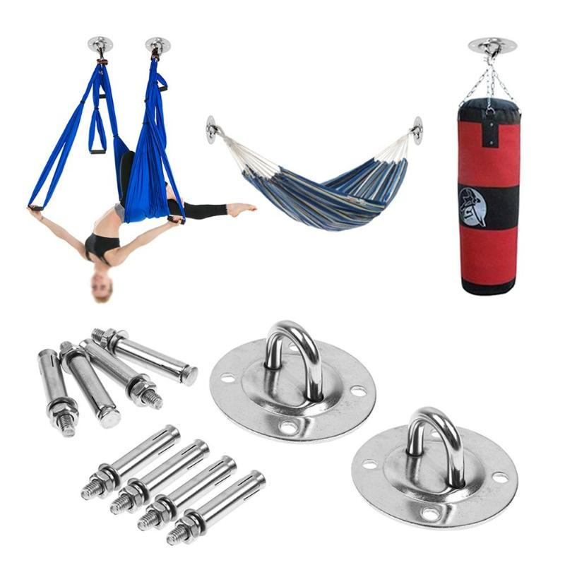 2PCS Hammock Wall Mount Anchor Hooks Aerial Yoga Ceiling Swing Hanging Hook Kit Roof Hook Command Hooks Indoor Yoga Supplies image