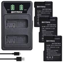 3 шт., аккумулятор EN EL14 EN EL14a + светодиодный USB-зарядка, двойное зарядное устройство для Nikon D3100 D5200 DF P7000 P7100 P7200 P7700 P7800