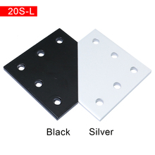 10pcs 20x20 with 5 Holes 90 Degree Joint Board Plate Corner Angle Bracket Connection Joint Strip for Aluminum Profile 2020
