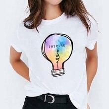 Женская футболка футболки Топ для женщин акварель перо птица