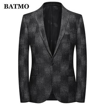BATMO 2019 new arrival autumn high quality wool casual blazer men,men's wool jackets,plus-size M-4XL 1971