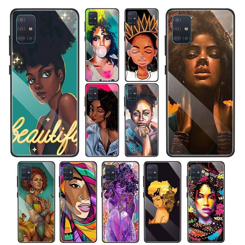 African Girls Cases for Samsung Galaxy A70 A50 A51 M51 A41 A40 A20 A21 A11 A31 A71 M11 Tempered Glass Phone Cover image