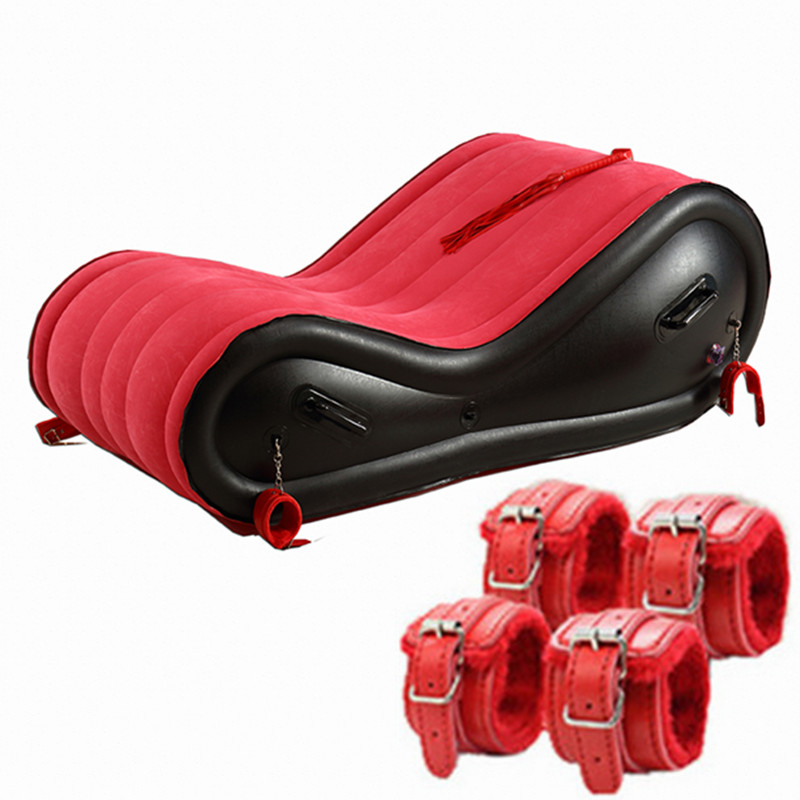 Garden Inflatable Sofa Bed For Adult Love Game Sofas With Handcuffs Velvet Soft Outdoor Sofa Chair Fold Waterproof Lazy Muebles