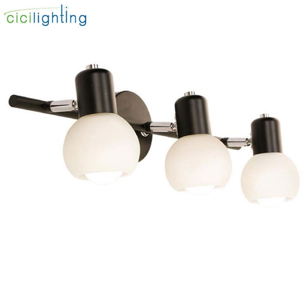 Europa moderna preto espelho de luz led banheiro wc vestiário fixado na parede da lâmpada sombra vidro e14 gabinete espelho iluminação luz