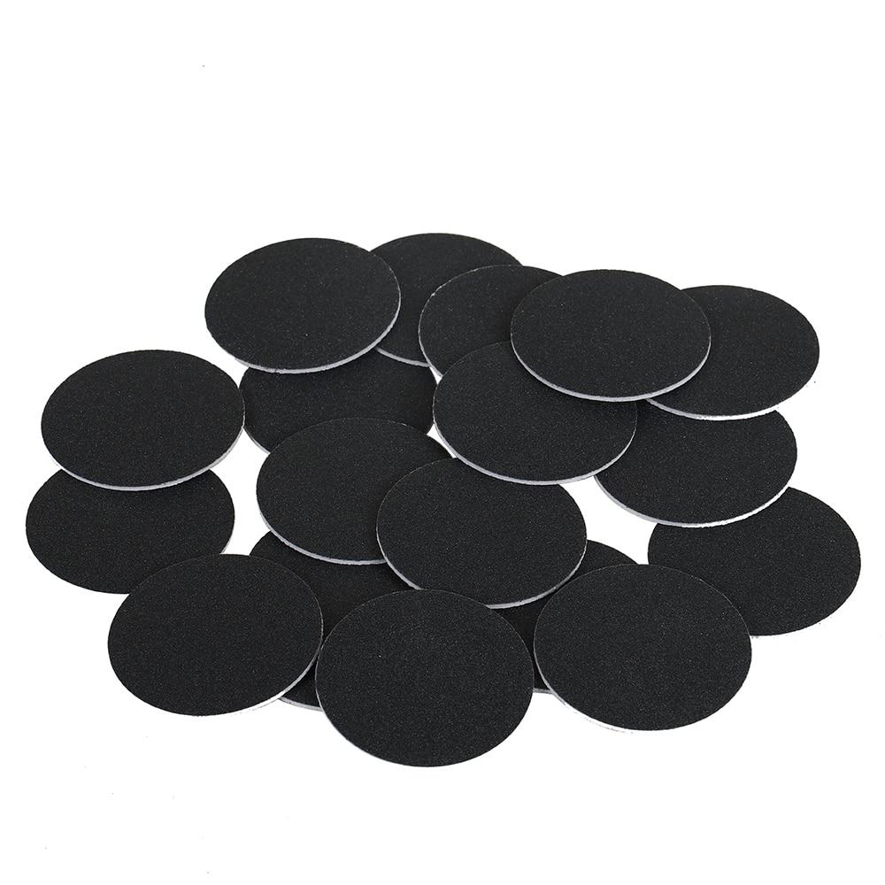 20 / 40pcs Grit # 240 Round Sanding Paper For Electric File Machine Feet Dead Skin Callus Peel Remove Sandpaper Disks