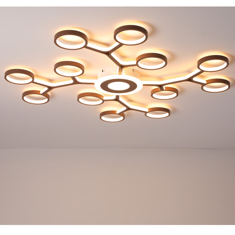 Modern LED Ceiling Lights living Room Bedroom Restaurant Study Room Remote Control Dimming Aluminum Body Ceiling Lamp Fixture 1