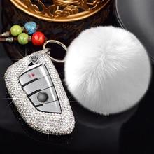 Hoge Kwaliteit Strass Mode Kristal Autosleutel Beschermdoppen Shell Cover Voor Bmw De 5 5303 325 X1X2X3X4X5X6 118i Key Case 218i