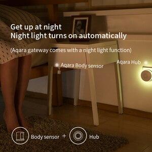 Image 5 - Sensor de movimiento Xiaomi Aqara, cuerpo inteligente, PIR, cuerpo humano, inalámbrico, Wifi, Zigbee, con Hub de enlace para aplicación Mi Home